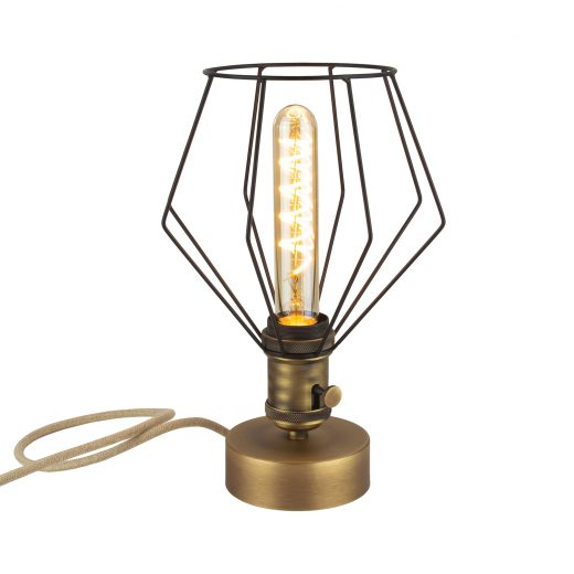Handmade stolová historická lampa BRONZO s otočným spínačom