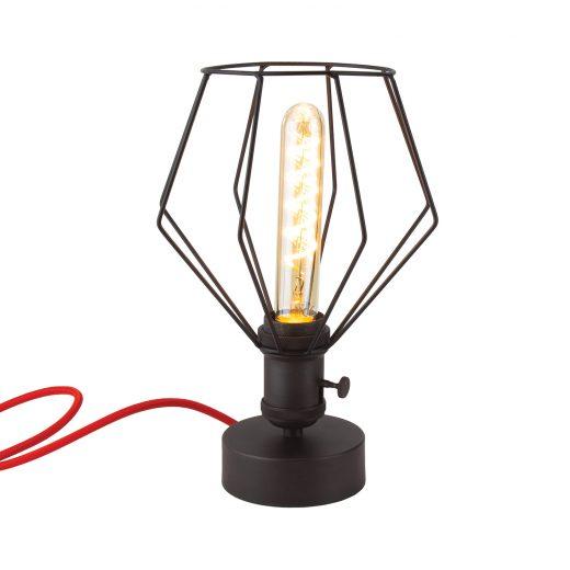 Handmade stolová historická lampa BURNISH s otočným spínačom