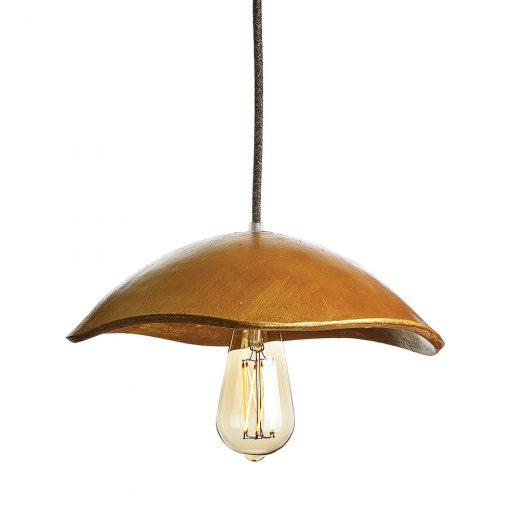 Jedinečné svietidlo GOLD SHELL vyrobené z recyklovaného papiera