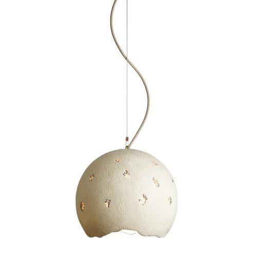 Originálne svietidlo CREAM vyrobené z recyklovaného papiera