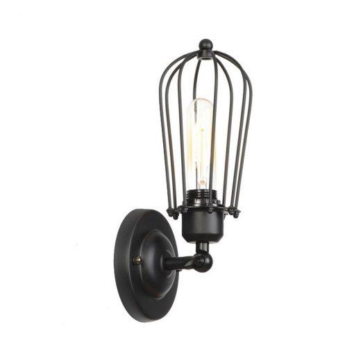 Retro nástenné svietidlo Pared v čiernej farbe