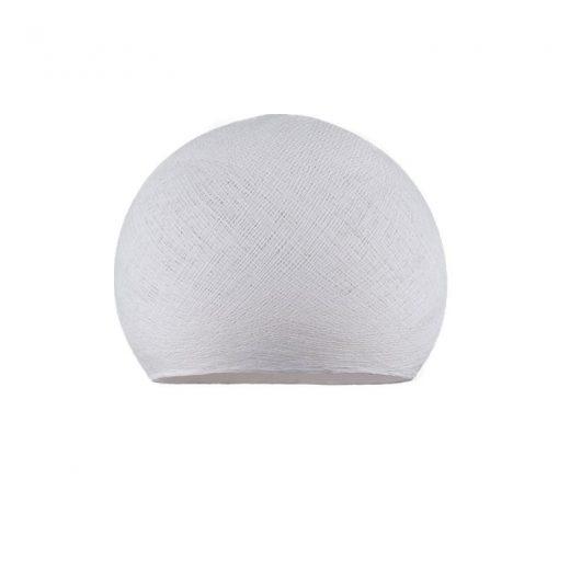 Ručne vyrobené tienidlo z polyesterového vlákna, 25cm, biela farba