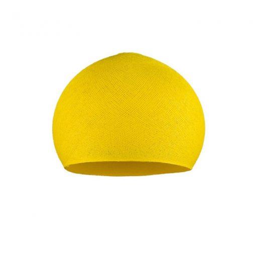 Ručne vyrobené tienidlo z polyesterového vlákna, 25cm, žltá farba