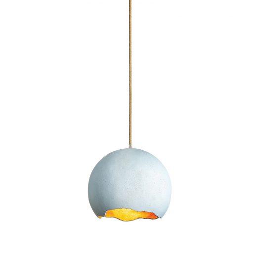 Umelecké svietidlo LIGHT BLUE vyrobené z recyklovaného papiera