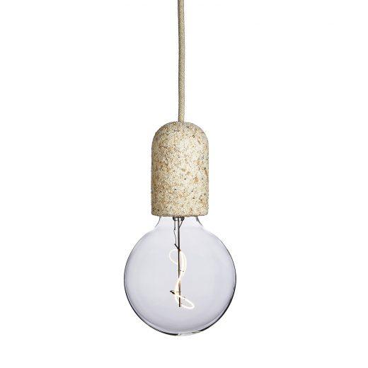 Závesné svietidlo SIMPLE CREAM ROUNDED vyrobené z recyklovaného papiera