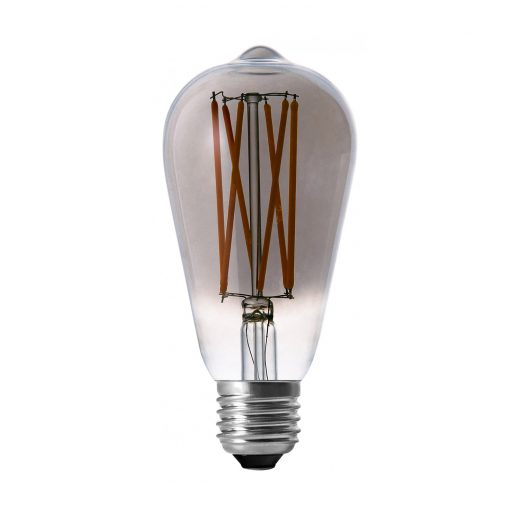 LED Žiarovka TEARDROP s dymovým sklom, E27, 130lm, 4W, Teplá