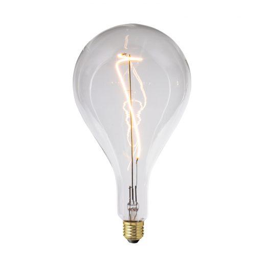 Retro žiarovka XXL PERA s čírym sklom – 4W, E27, Stmievateľná, 130lm
