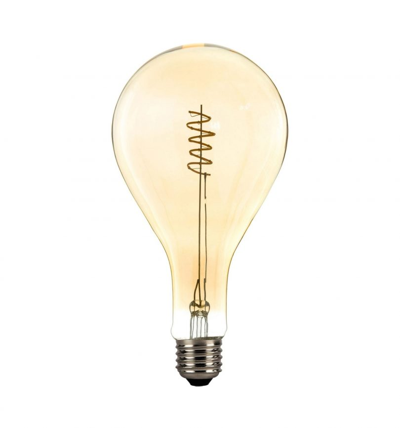 Retro žiarovka XXL PERA so zlatistým sklom – 4W, E27, Stmievateľná, 130lm