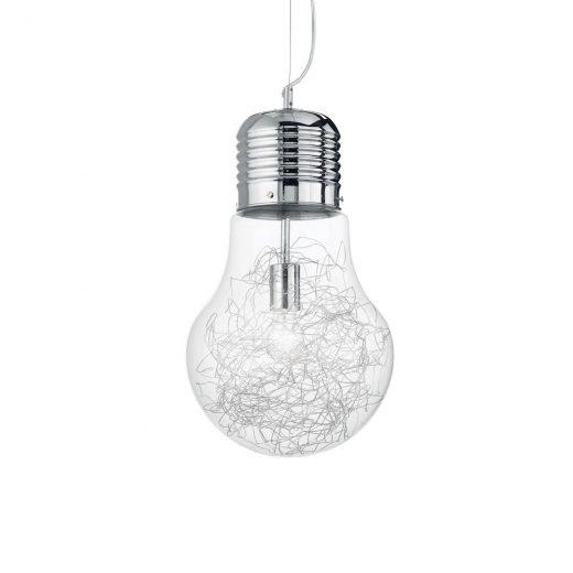Sklenené kreatívne svietidlo v tvare žiarovky LUCE MAX SP1 BIG | Ideal Lux