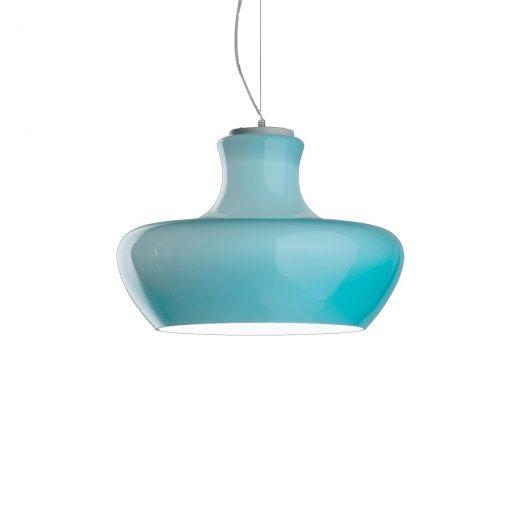 Dizajnové sklenené svietidlo ALADINO SP1 D30 s modrým tienidlom