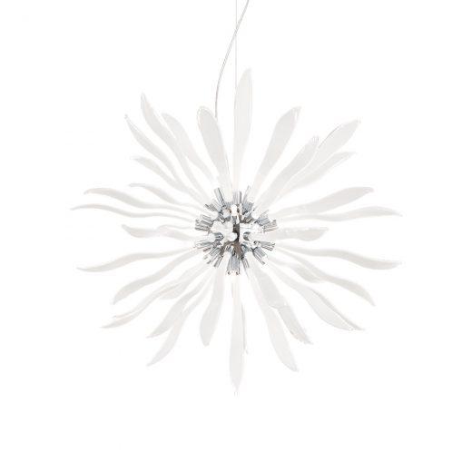 Elegantný sklenený luster CORALLO SP12 s dekoračnými sklíčkami | Ideal Lux