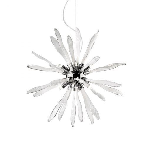 Elegantný sklenený luster CORALLO SP8 s dekoračnými sklíčkami