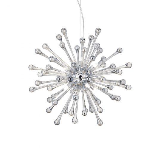 Elegantný sklenený luster PAULINE SP8 s dymovými sklíčkami.