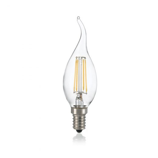 LED FILAMENT žiarovka - CANDLE - E14, Teplá biela, 4W, 430lm