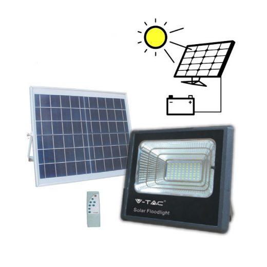 LED Solárny reflektor s 16W solárnym panelom, Studená biela, 1050lm