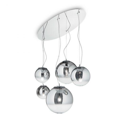Luxusný luster s dymovými tienidlomi MAPA FADE SP5 | Ideal Lux