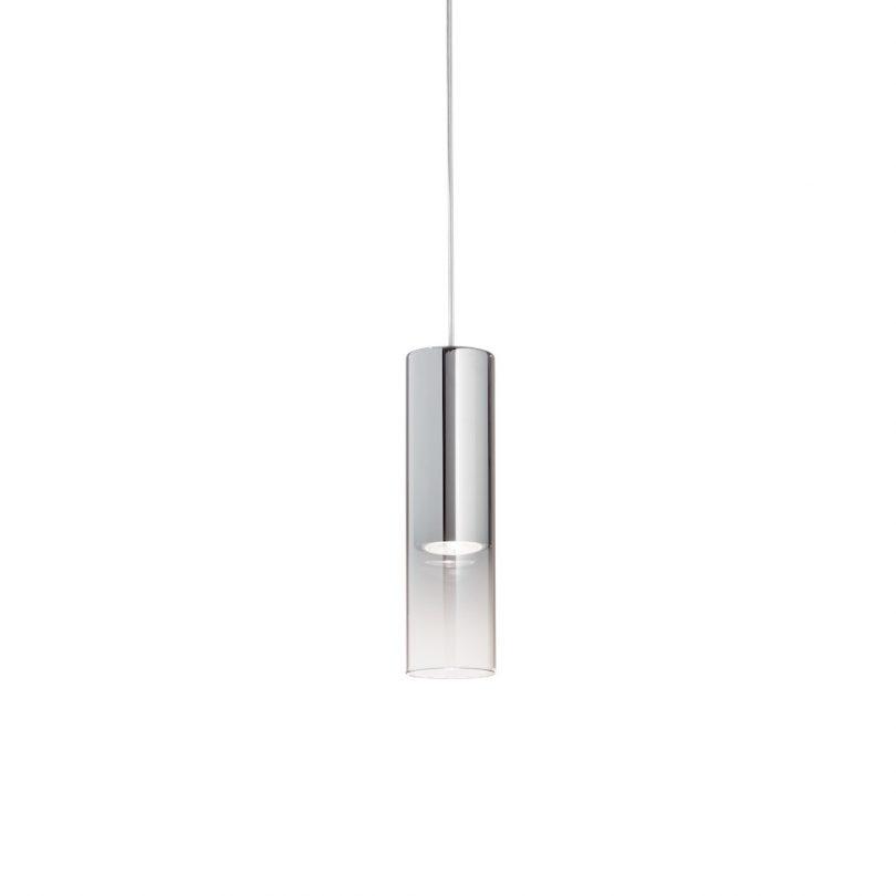 Moderné kuchynské visiace svietidlo LOOK SP1 SMALL v chrómovej farbe s dymovým sklom | Ideal Lux