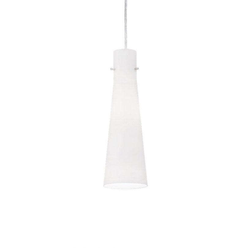 Moderné sklenené svietidlo KUKY SP1 WHITE | Ideal Lux