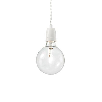 Porcelánové závesné svietidlo KLAUS SP1 v bielej farbe | Ideal Lux