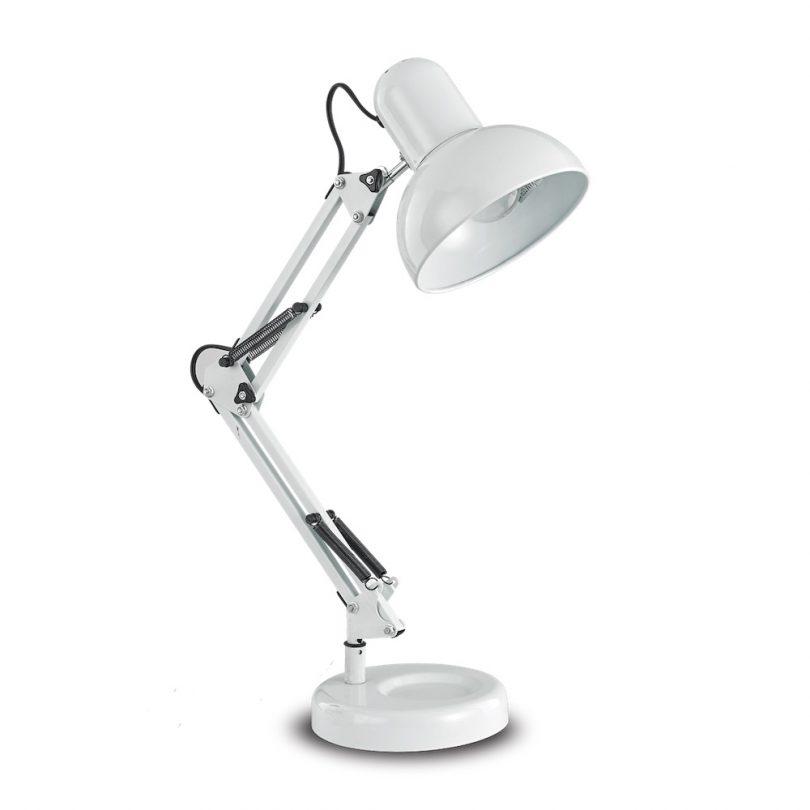 Retro stolové svietidlo KELLY TL1 v bielej farbe| Ideal Lux