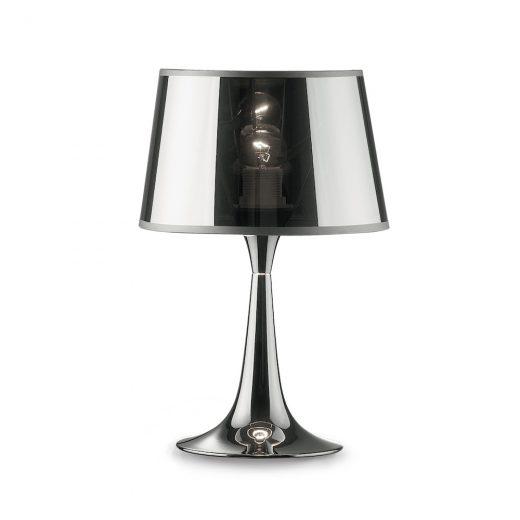 Stolové svietidlo LONDON CROMO TL1 SMALL v chrómovej farbe | Ideal Lux