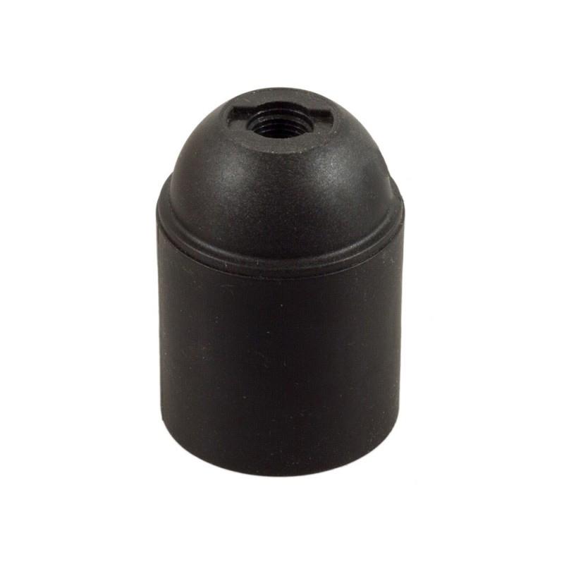 Termoplastová objímka E27 v čiernej farbe