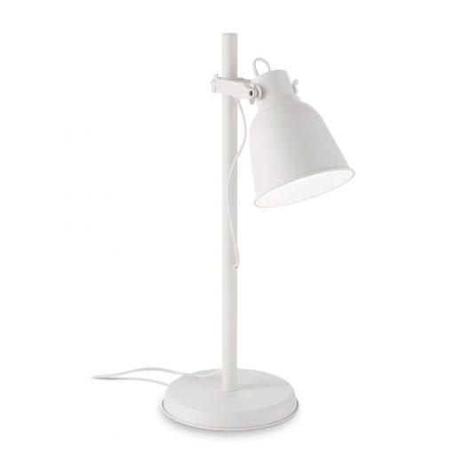 Vintage stolové svietidlo MAURIEN TL1 v bielej farbe | Ideal Lux