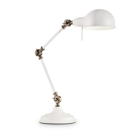 Vintage stolové svietidlo TRUMAN TL1 v bielej farbe | Ideal Lux