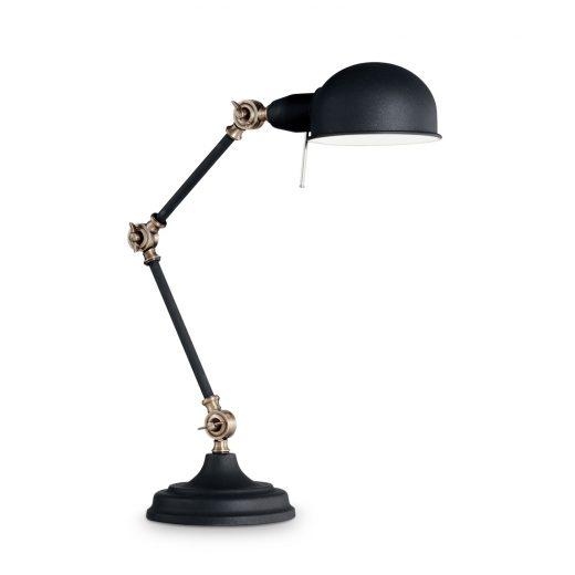 Vintage stolové svietidlo TRUMAN TL1 v čiernej farbe