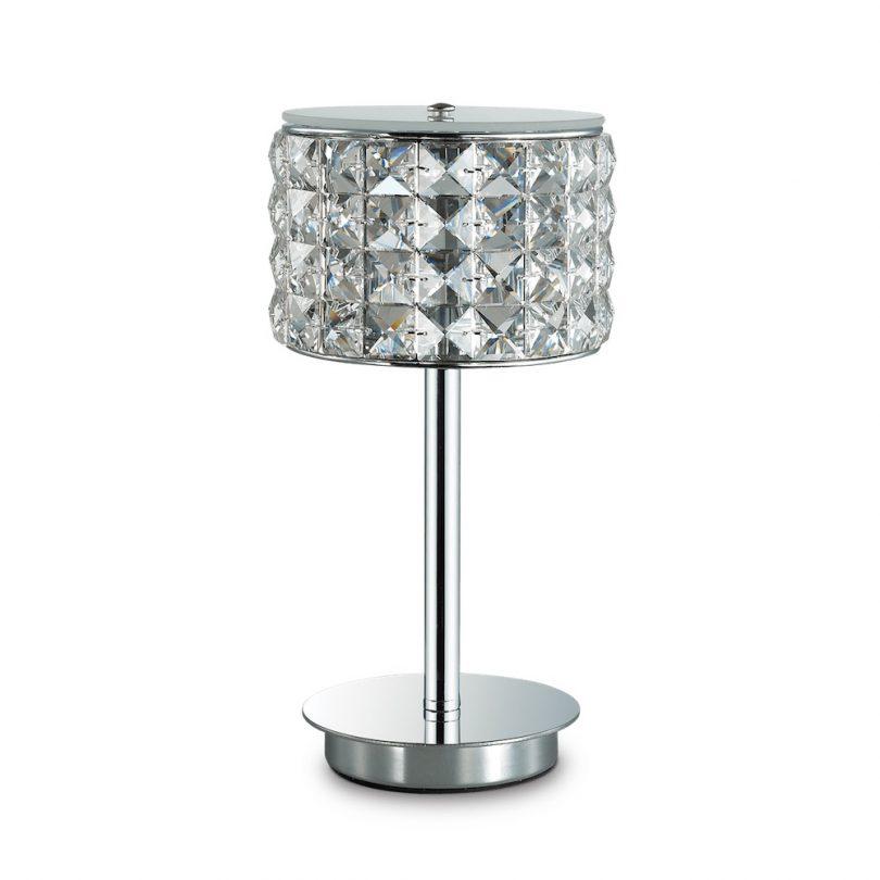 Stolná elegantná lampa ROMA TL1 v chrómovej farbe