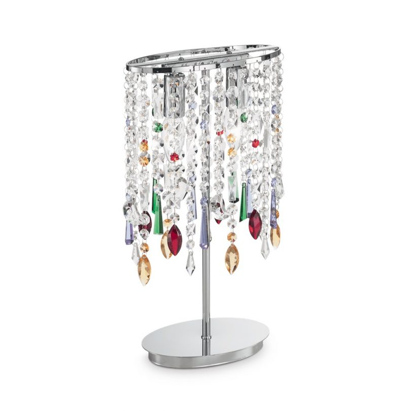 Stolná lampa RAIN COLOR TL2 v chrómovej farbe | Ideal Lux