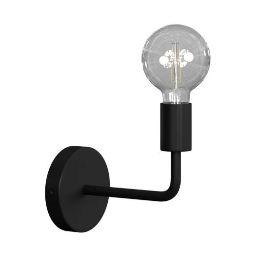 Jednoduché nástenné svietidlo v čiernej farbe