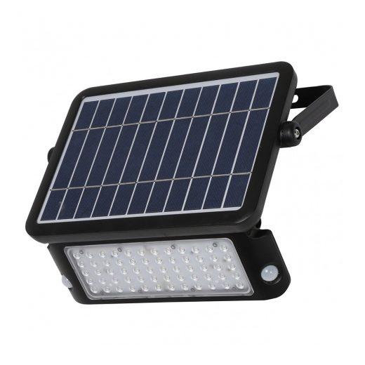 Solárny LED reflektor s integrovaným 10W solárnym panelom, Denná biela, 1100lm