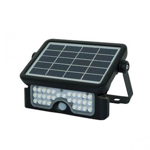 Solárny LED reflektor s príkonom 5W, vybavený solárnym panelom