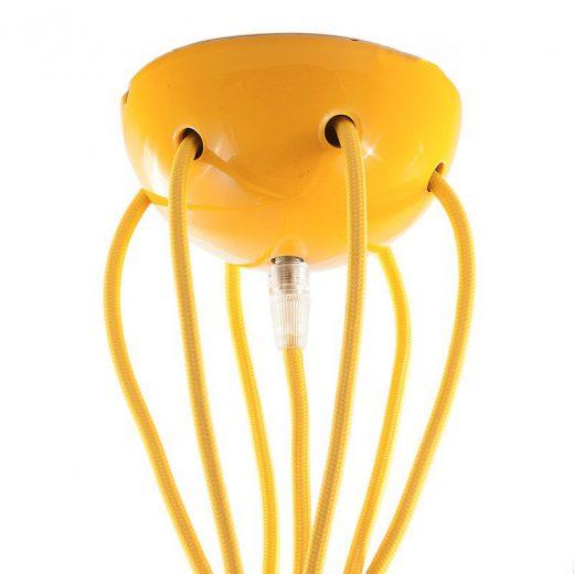 Keramická rozeta pre 7 svietidiel v žltej farbe