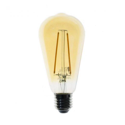 Jantárová LED žiarovka FILAMENT ST64 - 4W, E27, 400lm, 2000K | Daylight Italia