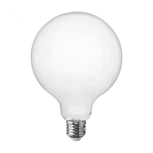 LED žiarovka s mliečnym sklom - G125 - E27, 11W, 1521lm, Denná biela