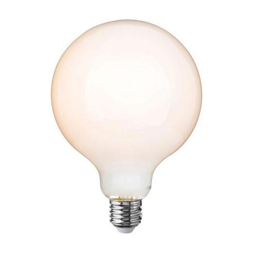 LED žiarovka s mliečnym sklom - G125 - E27, 7.5W, 806lm, Teplá biela