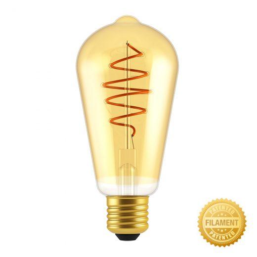 Zlatá LED žiarovka - CROISSANT TEARDROP - 5W, E27, Stmievateľná, 2000K, 250lm | Daylight Italia