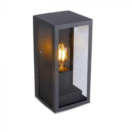 Nástenné svietidlo v priemyselnom dizajne v čiernej farbe..