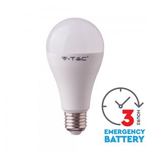 LED žiarovka vybavená batériou a núdzovým modulom - E27, 9W, Studená biela, 806lm