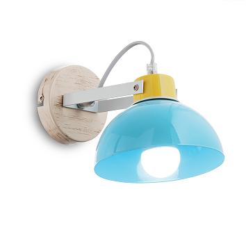 Moderná nástenná lampa TITTI AP1 AZZURRO