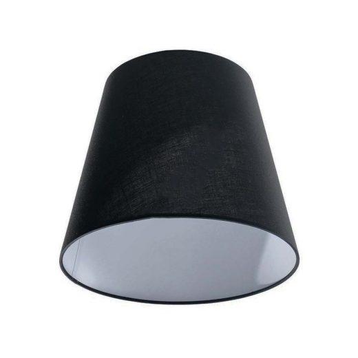 Textilné tienidlo s priemerom 20cm v čiernej farbe