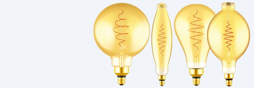 Croissant žiarovky LED
